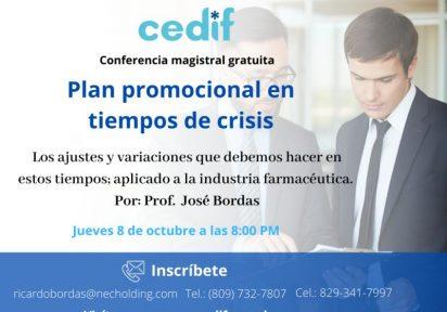 Conferencia Magistral; Plan Promocional en Tiempos de Crisis